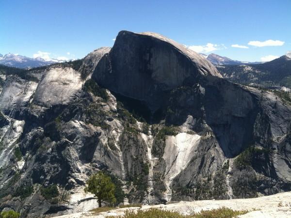 Half-Dome-from-top-of-North-Dome-2012-600x450 - Yosemite's North Dome